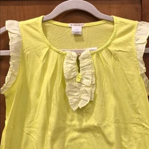 NWT Crewcuts Lemon Yellow Top with Ruffles sz 14